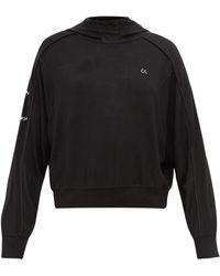 Calvin Klein バックファスナー ジャージー スウェットパーカー - ブラック