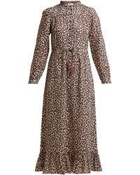 Sea Lottie Leopard-print Canvas Dress - Multicolour