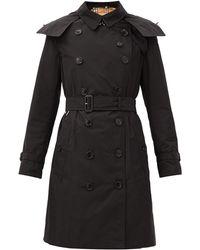 Burberry Kensington Taffeta Trench Coat - Black