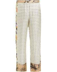 La Prestic Ouiston Pantalon en soie à pois Riviera - Neutre