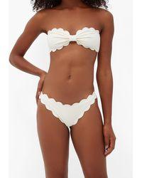 Marysia Swim Antibes Scalloped-edge Bikini Briefs - White