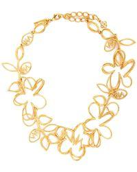 Oscar de la Renta - Botanical Scribble Necklace - Lyst