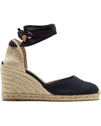 Castaner - Carina 80 Canvas & Jute Espadrille Wedges - Lyst