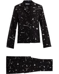 Rockins | Ufo-print Silk-crepe Pyjama Set | Lyst
