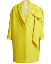 Delpozo - Bow-embellished Wool Coat - Lyst