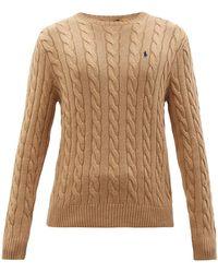 Polo Ralph Lauren コットンケーブルニット セーター - ナチュラル