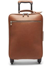 Brunello Cucinelli Leather Cabin Suitcase - Brown