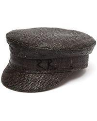 Ruslan Baginskiy Straw Baker Boy Cap - Black