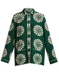 Valentino - Medallion-print Silk Pyjama Shirt - Lyst