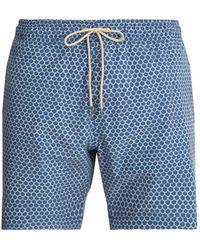 Faherty Brand - Beacon Fish Scale Printed Swim Shorts - Lyst