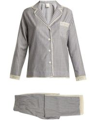 Morpho + Luna - Ines Lace-trimmed Wool-flannel Pyjama Set - Lyst