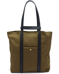 Mismo Raise Two-in-one Canvas & Leather Tote Bag - Multicolour