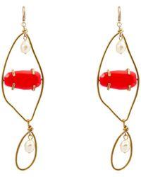 Marni - Boucles d'oreilles en métal ornements pierres - Lyst