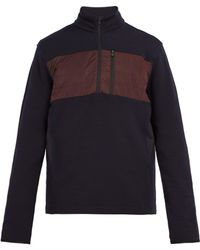 Aztech Mountain - Performance Quilted Panel Half Zip Top - Lyst