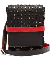 Christian Louboutin - Benech Reporter Spike-embellished Cross-body Bag - Lyst