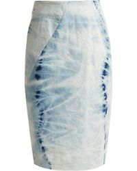 Preen Line - Edith Tie Dye Pencil Skirt - Lyst