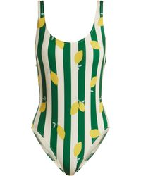 Solid & Striped - Anne-marie Lemon Striped One-piece Swimsuit - Lyst
