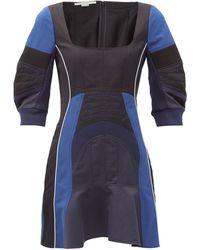 Stella McCartney ジゼル パネルツイルドレス - ブルー