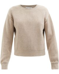 Officine Generale Perrine Ribbed-knit Merino-wool Jumper - Natural