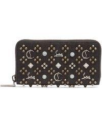 Christian Louboutin - Panettone Embellished Zip Around Denim Wallet - Lyst