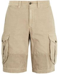 Incotex - Mid-rise Straight-leg Cotton Cargo Shorts - Lyst
