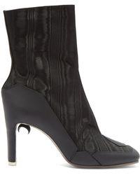 Marine Serre X Nicholas Kirkwood Moon Print Ankle Boots - Black
