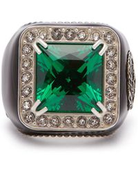 Gucci - Crystal-embellished Signet Ring - Lyst