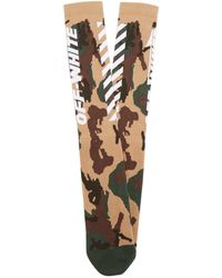 Off-White c/o Virgil Abloh - White Wings Camouflage-print Ribbed-knits Socks - Lyst