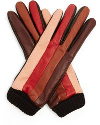 Missoni - Striped Leather Gloves - Lyst