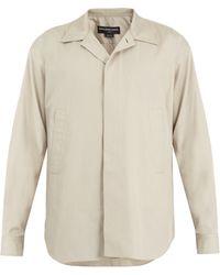 Balenciaga - Point-collar Cotton Shirt - Lyst