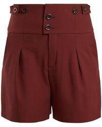 Chloé - High Waist Double Button Shorts - Lyst