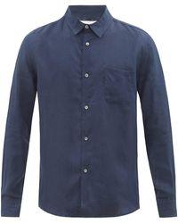 Derek Rose Monaco Linen Shirt - Blue