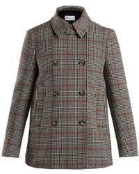 RED Valentino - Prince Of Wales-checked Wool-blend Jacket - Lyst