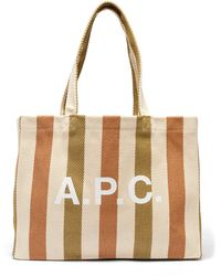 A.P.C. - ダイアン ストライプ キャンバストートバッグ - Lyst