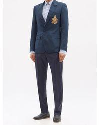 Dolce & Gabbana ウールシルク シングルジャケット - ブルー