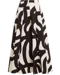 Junya Watanabe - Scribble-print Bonded-cotton Midi Skirt - Lyst