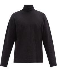 Raey ファンネルネック ロングスリーブtシャツ - ブラック