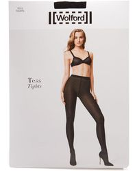 Wolford - Tess Semi-opaque Jacquard Tights - Lyst
