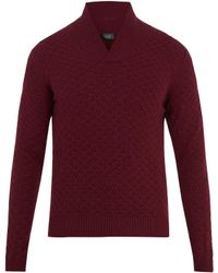 Zanone - Shawl-neck Wool Sweater - Lyst