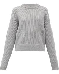 PROENZA SCHOULER WHITE LABEL Ribbed Wool Jumper - Womens - Grey