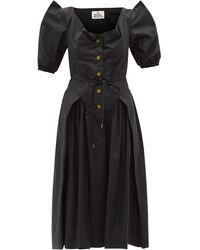 Vivienne Westwood サタデー オーガニックコットンポプリンドレス - ブラック