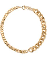 A.P.C. X Suzanne Koller Curb-chain Choker Necklace - Metallic