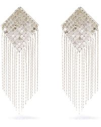 Etro Fringed Chainmail Clip Earrings - Metallic