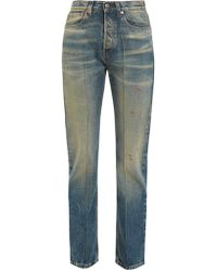 Gucci | Butterfly-embroidered Straight-leg Jeans | Lyst