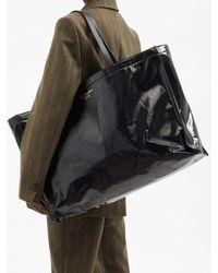 Acne Studios アーグル ラージ キャンバストートバッグ - ブラック