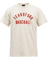 Fear Of God ベースボールフロックロゴ コットンtシャツ - グレー
