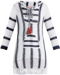 Anna Kosturova - Cape Cod Striped Crochet Hooded Dress - Lyst