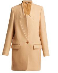 Stella McCartney Wool Coat - Natural