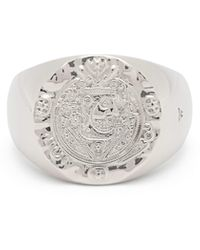 Tom Wood - Crest Coin Embossed Sterling Silver Ring - Lyst