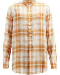 BED j.w. FORD スタンドカラー チェックシャツ - マルチカラー